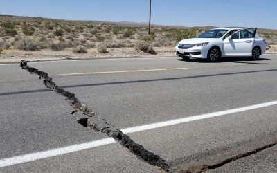 Strong quake hits California, fire and damage reported