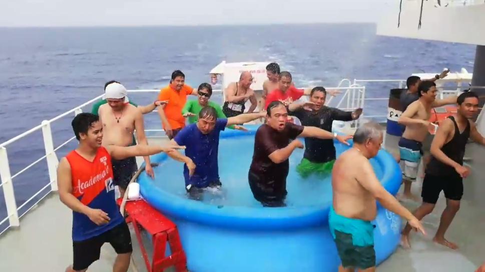 Filipino ship crew 'zumba' goes viral