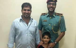 Photo of Ajman Police brings lost kid back to parents in one hour