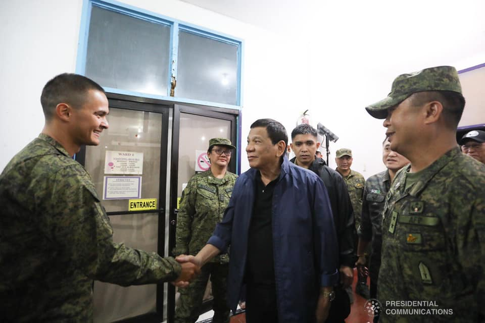 Matteo Guidicelli meets President Rodrigo Duterte for the 2nd time in Sulu