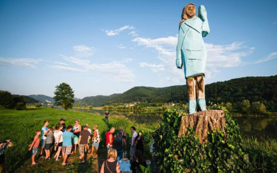 Slovenia welcomes Melania Trump's life-size wood sculpture with mixed emotions