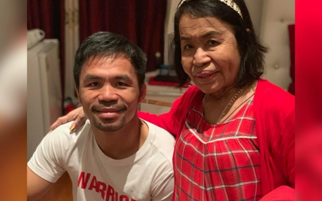 LOOK: Mommy Dionisia arrives in U.S ahead of Pacquiao-Thurman bout