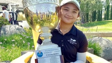 Photo of Superal, Malixi lift trophies in FCG event