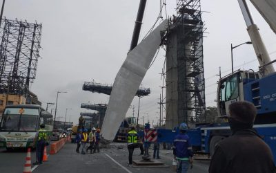Detached coping beam caused heavy traffic at Balintawak section on Sunday morning