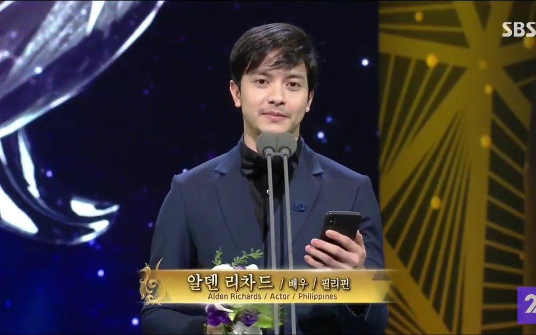 Alden Richards wins Asian Star Prize at Seoul Int'l Drama Awards