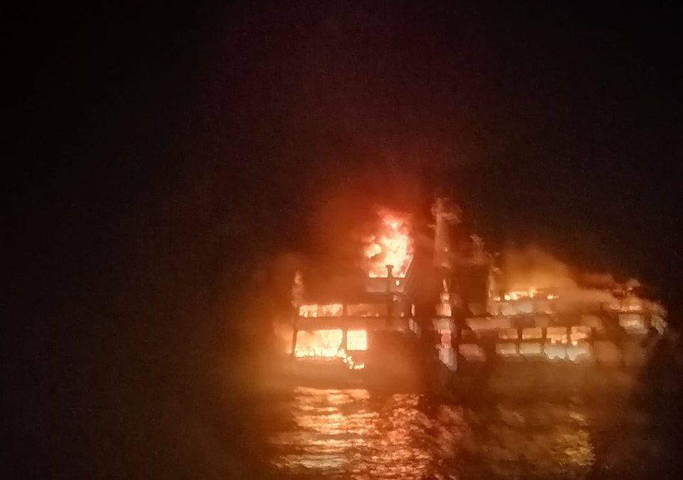 2 dead, 14 missing in Dapitan-bound ferry engulfed by fire