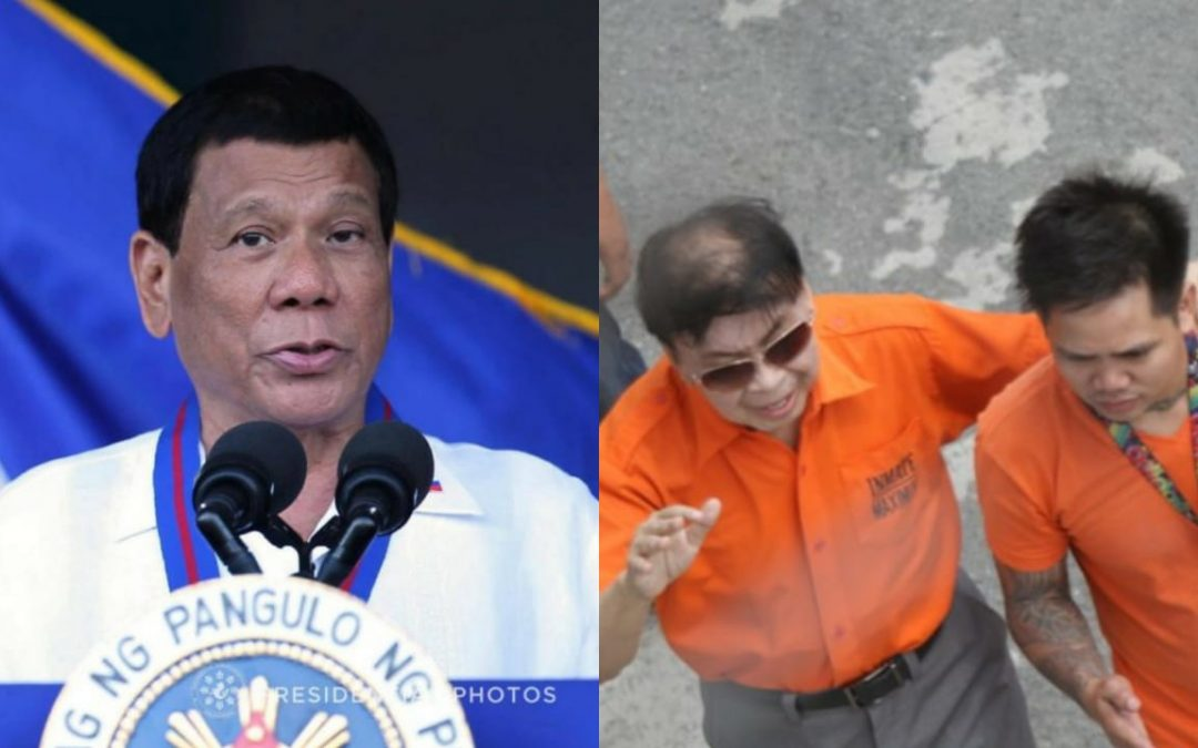 Duterte will not allow the release of Ex-Mayor Sanchez