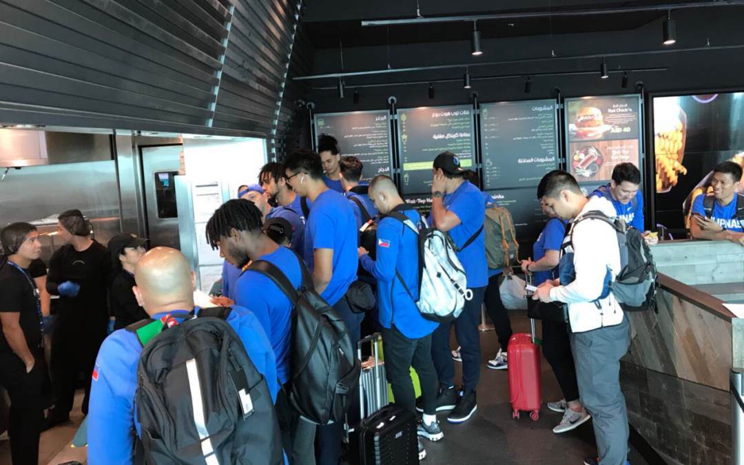 Gilas Pilipinas makes short stopover in Dubai before heading to Spain