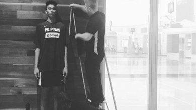 Photo of Filipino basketball player Kai Sotto now taller than NBA Legend Shaquille O' Neal at 7-foot-2