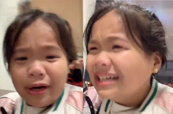 Dabarkads Ryzza Mae Dizon cries after watching a movie