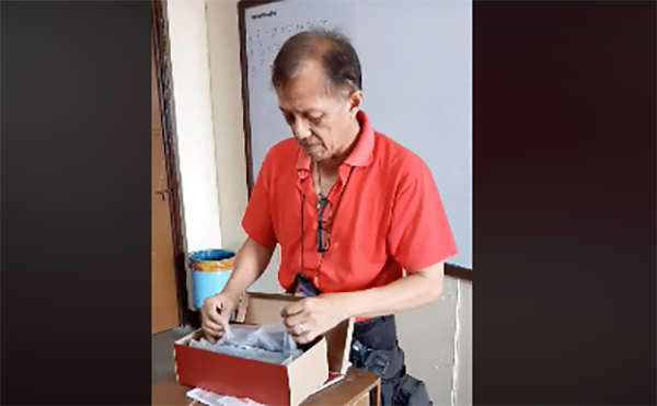 Video of Science teacher receiving new pair of leather shoes from his students goes viral