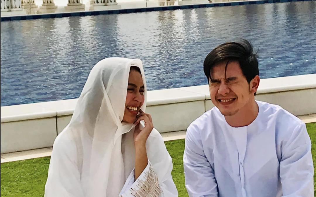 LOOK: Alden Richards, Kathryn Bernardo get a taste of UAE, Eid'l Adha