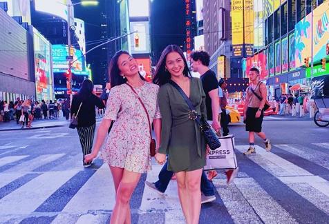 Gerald Anderson's ex-GFs Kim Chiu, Maja Salvador bond in New York