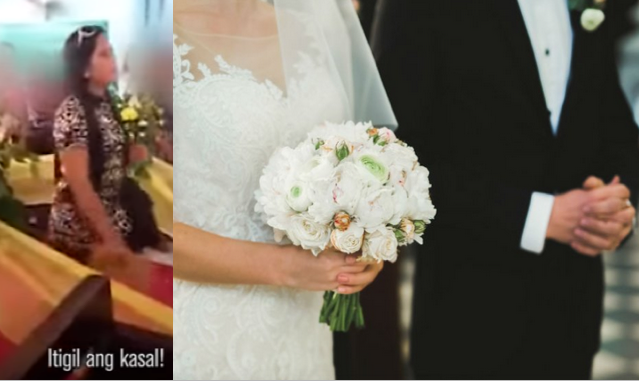 Itigil ang kasal: Legal wife steals scene in husband's wedding with another woman