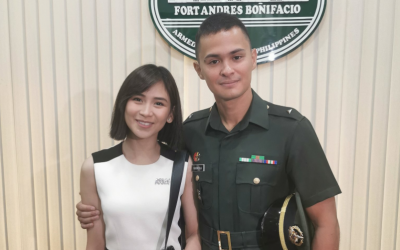 Sarah Geronimo attends donning of  ranks of Matteo Guidicelli as PH Army 2nd Lieutenant