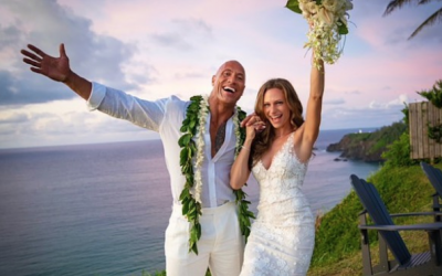 The Rock marries long-time girlfriend