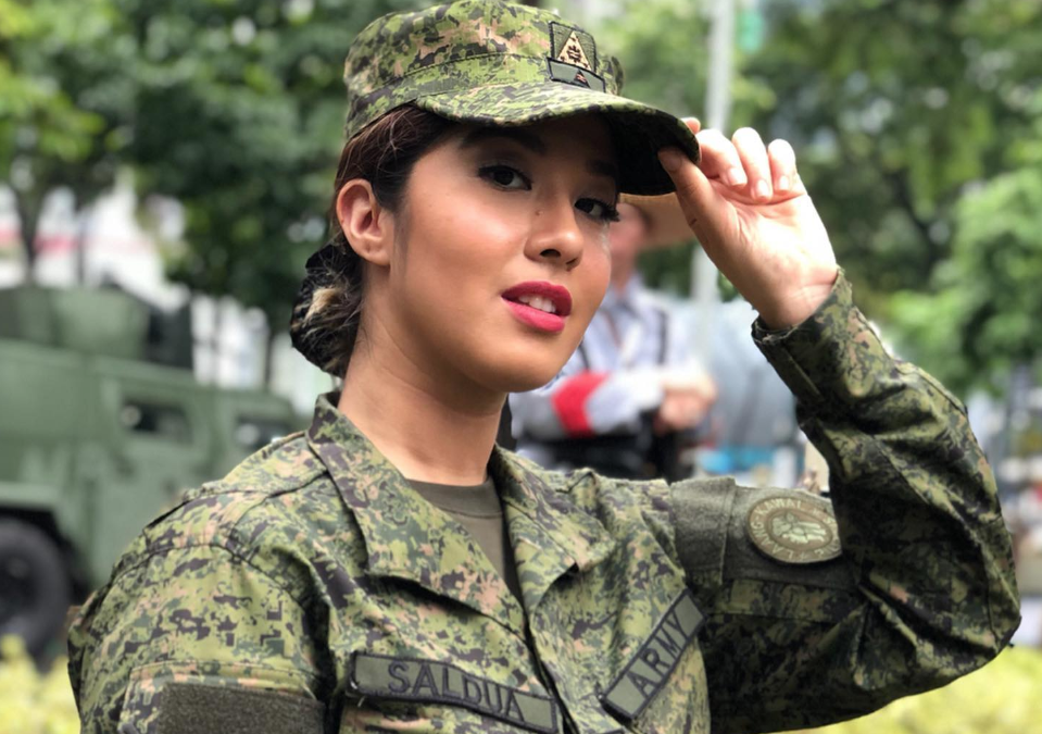 Former Miss Philippines-Air joins Philippine Army Reserve Force