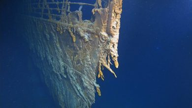 Photo of New footage of Titanic shipwreck shows how it's being swallowed towards ocean's depths