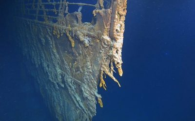 New footage of Titanic shipwreck shows how it's being swallowed towards ocean's depths