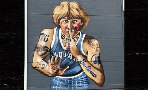 NBA legend Larry Bird irked over mural showing him heavily tattooed