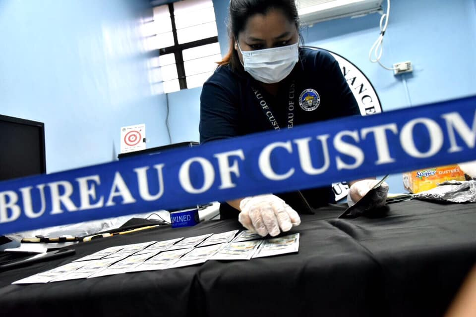 USD 12,000 concealed in air cargo intercepted at NAIA