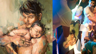 Photo of Marian Rivera gives Dingdong Dantes 'father and son' painting for his birthday
