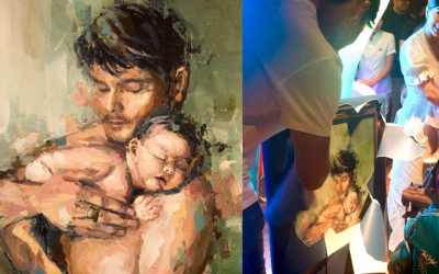 Marian Rivera gives Dingdong Dantes 'father and son' painting for his birthday