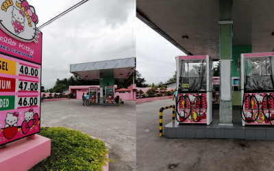 'Hello Kitty' inspired gas station captures attention in South Cotabato