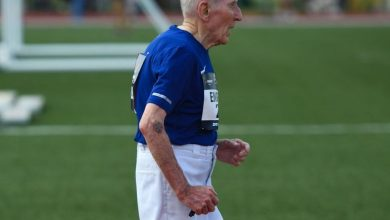 Photo of 96-year-old man finishes 5km in 42 minutes, shatters record