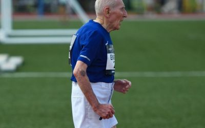 96-year-old man finishes 5km in 42 minutes, shatters record
