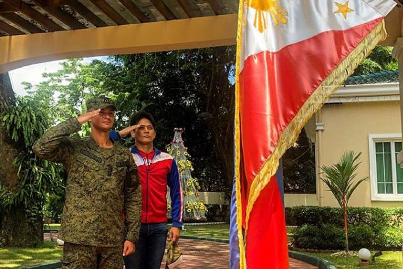 Army reservist Matteo Guidicelli pays tribute to Filipino heroes