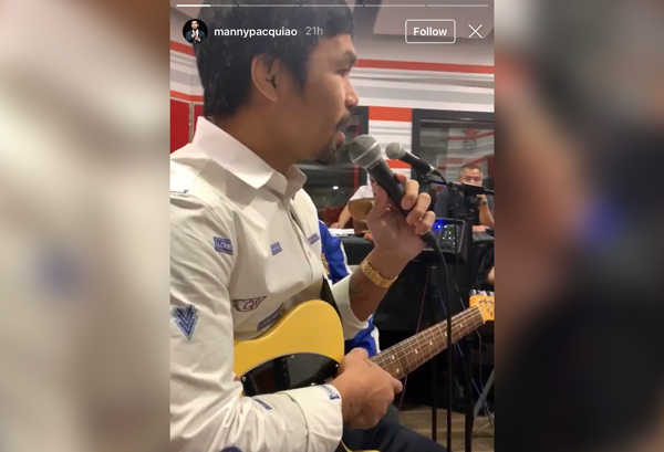 Manny Pacquiao belts out 'Buwan' ahead of his upcoming concert
