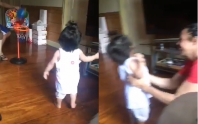 One-year old Terrence Romeo Jr. shows off hoops skills