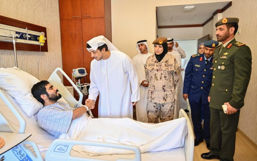 Sheikh Mansour bin Zayed visits wounded servicemen at Zayed Military Hospital