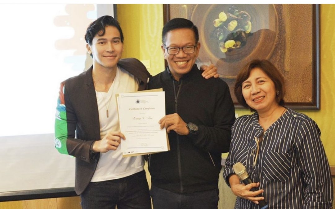 LOOK: Enchong Dee completes mini-MBA course