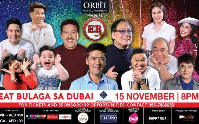 Eat Bulaga to bring laughter in Dubai this November 15