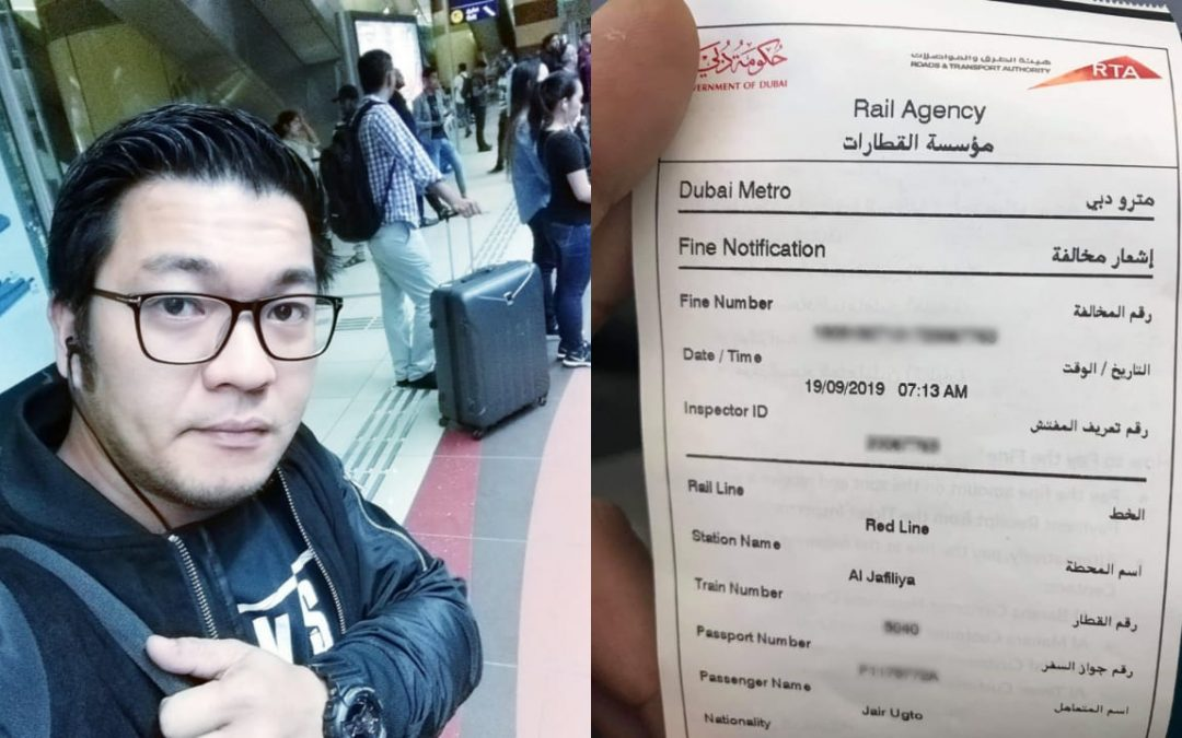 OFW fined for sleeping in Dubai Metro