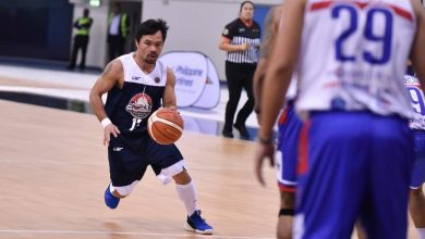 Photo of Pacman fires 42 shots as Team MPBL gets even with Dubai All-Stars at Hamdan Sports Complex