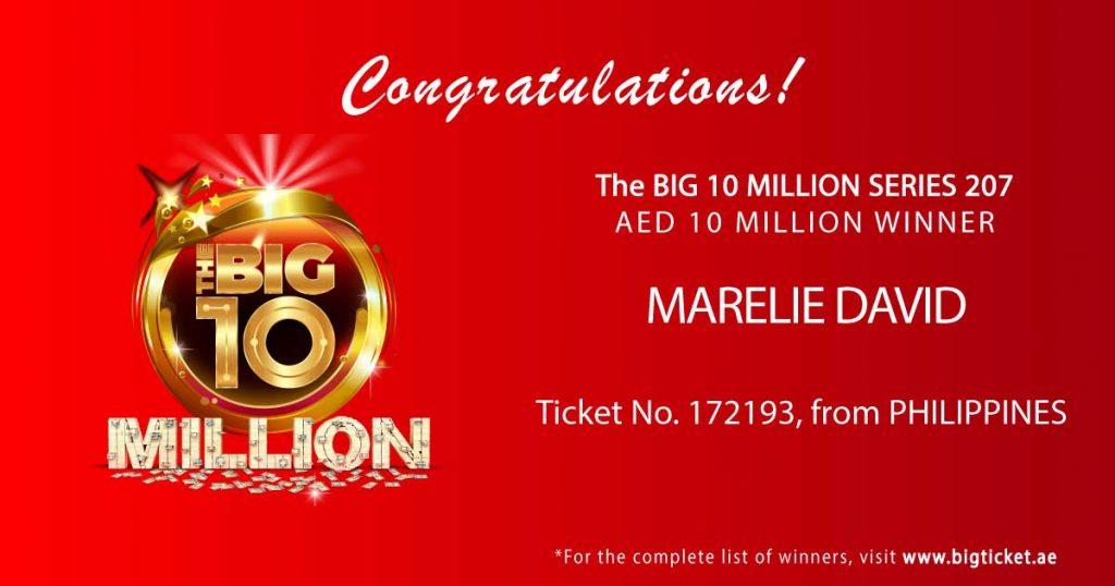 Pinay wins Dh10 million in Big Ticket raffle - The Filipino