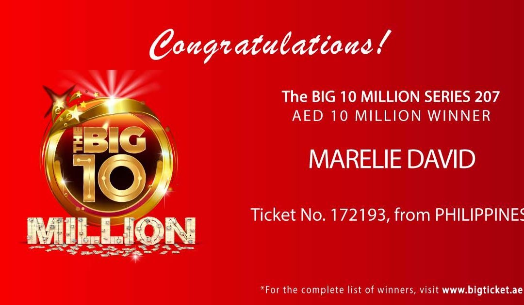 Pinay wins Dh10 million in Big Ticket raffle