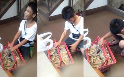 Boy sells tinapa to help sick dad, support study