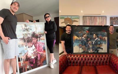 LOOK: Luis Manzano gives special artworks to parents Vilma Santos, Edu Manzano