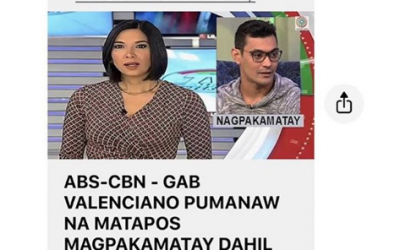 """""""Fake news."""" —   Gary Valenciano warns about videos saying Gab is dead"""