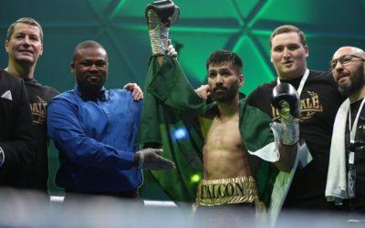 Pakistani boxer KOs Filipino boxer in 62 seconds in Dubai match