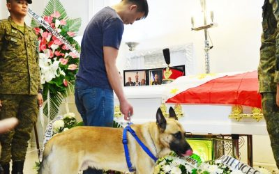 'Brando,' the dog of PMA cadet who died of   hazing, bids him goodbye