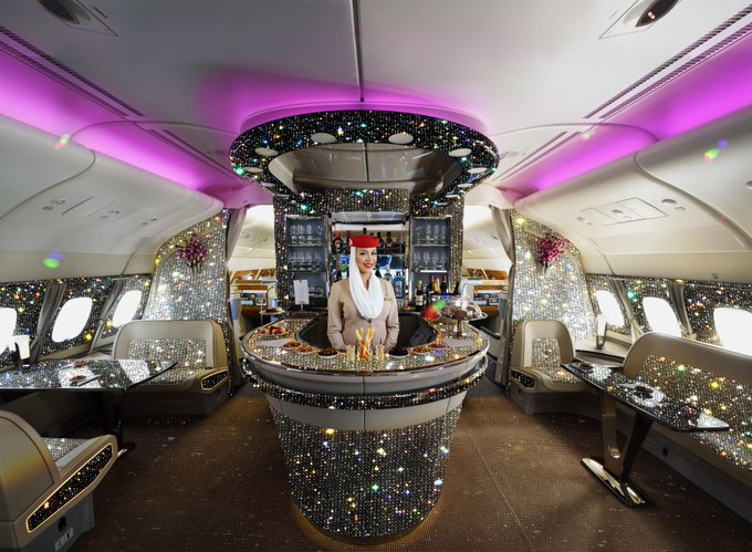 LOOK: Emirates posts A380 Diamond Lounge on Twitter