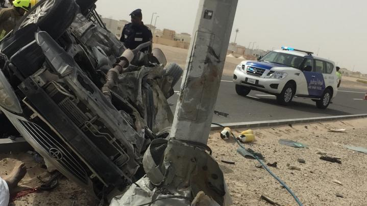 20-year-old Emirati student dies as vehicle flips over