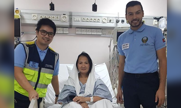 UAE paramedics save Filipina from suspected gas leak