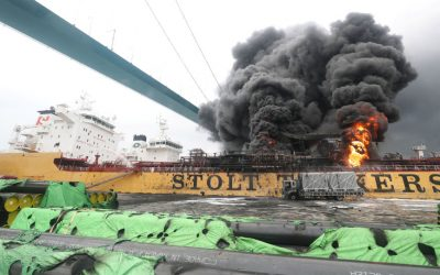 9 injured as Pinoy-crewed tanker sparks fire in South Korea
