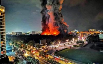 Pasay fire officials say arson caused Star City fire